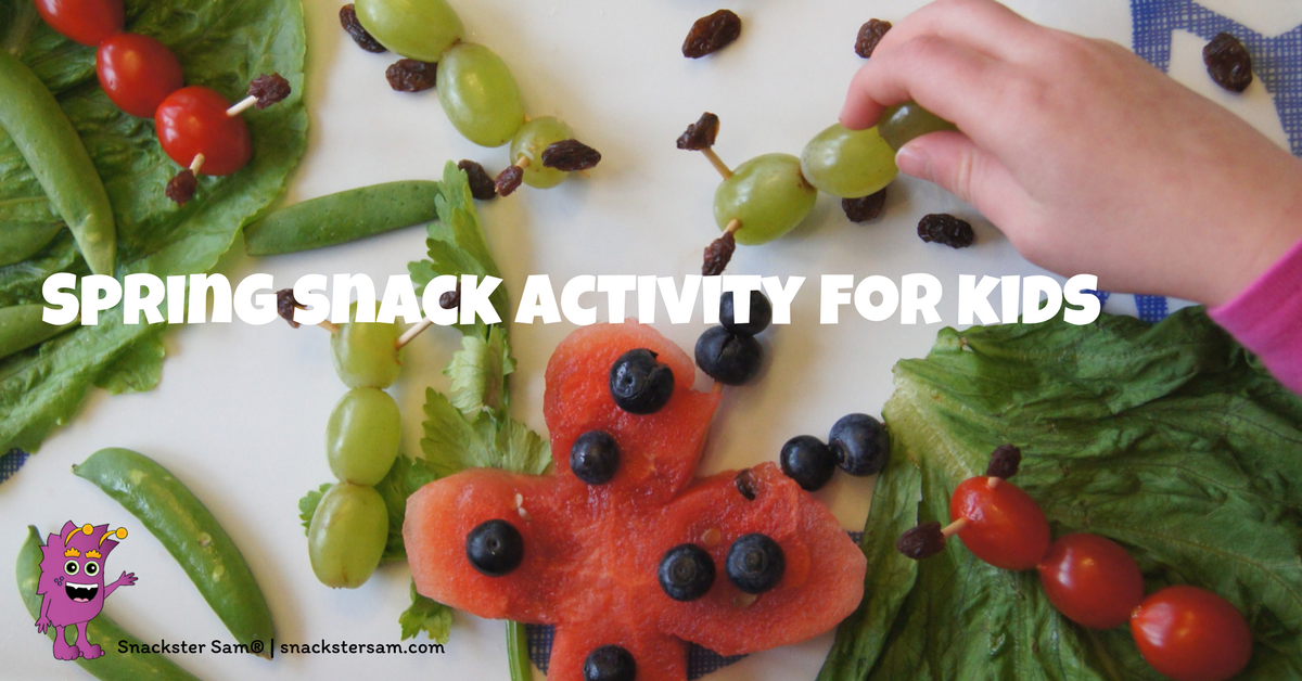 Spring snack activities for kids