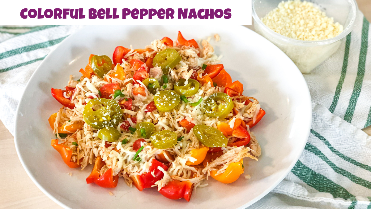 colorful bell pepper nachos